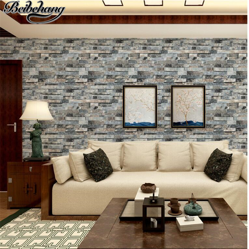 beibehang Chinese - style three-dimensional retro brick wall wallpaper living room TV background wall effect map brick wallpaper<br>