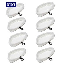NTNT Free ship New 8 QTY Washable Microfibre Cloth Replacement Pads For H2O Steam Mop Cleaner