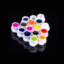 Newest Hive Tattoo Ink Cups 200pcs/bag Permanent Makeup Pigment Cup Caps With Stand Tattoo Accessories Free Shipping(China)