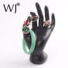 Black Resin OK Hand Ring Holder Bracelet Bangle Display Jewelry Stand Showcase for Expositores and Shop Jewellery Organizer Case