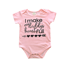 2017 Overalls Baby Newborn Children Boy Girl Clothes Overalls Cotton Short Sleeve Sliders Overalls Clothes Pink Outfit SR151