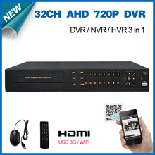 Home video surveillance 32ch full AHD 720P real time recording security CCTV DVR recorder HDMI 1080P 32 channel AHD-M DVR NVR