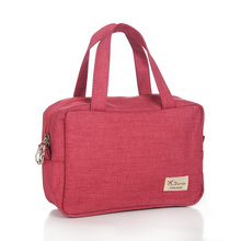 Women Cosmetic bag High capacity Travel Wear Wash bag Canvas Make up Oganizer Lady Handle Toiletry bag(China)