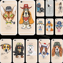 For iPhone 6S 25 Styles Pattern Dogs Silicon Phone Cover Cases For Apple iPhone 6 iPhone6 iPhone6S Case Shell 2017 Newest Hot
