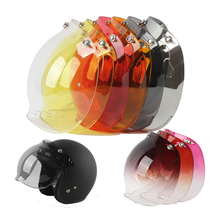 Harley helmet bubbles visor vintage retro open face helmet motorcycle helmet bubble visor lens glasses for helmets(China)