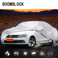 Auto Car Covers Sedan Waterproof Snowproof For Toyota Camry VW Passat B5 B6 B7 B8 CC Skoda Superb Chevrolet Malibu Epica Camaro(China)