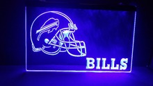 B-206 Buffalo Bills NEW Helmet beer bar pub club 3d signs LED Neon Light Sign home decor crafts(China)