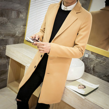 Winter men's tops clothing brand fashion windbreaker new society suitable coat trench coat men solid color Large size Coat M-5XL(China)