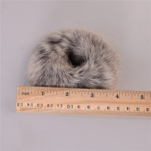 "4""100% Real Fur Hair Rope Soft and comfortable Rabbit  Fur Hair Band Headband Hair Holder Wristband"