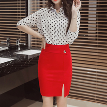 TingYiLi Red Black Short Skirts Womens Plus Size 2XL 3XL 4XL 5XL High Waist Pencil Skirt Office Lady Sexy Slim Fit Tight Skirt
