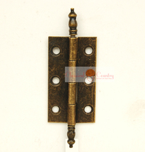 4pcs Antique Hinges for Cabinet Trunk Jewelry Box Storage box Furniture Hardware Hinges Imitation Bronze