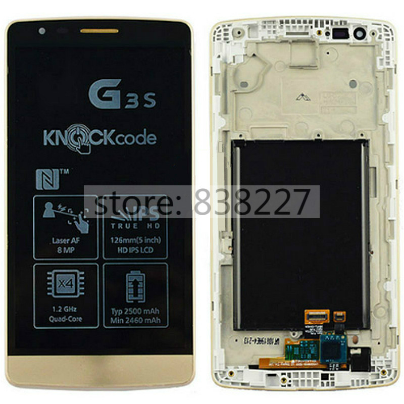 LCD Screen for LG G3 mini D722 D724 LCD Touch Display Digitizer screen + Frame Assembly replacement Black Free shipping<br><br>Aliexpress