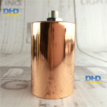 2/10pcs 6 colors Factory price vintage E27 copper iron lamp holder socket no switch copper finished plastic DIY lighting fitting