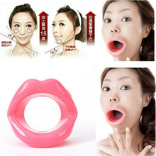 Silicone Rubber Face Slim Exerciser Muscle Lips Trainer Anti-Wrinkle Mouth Oral Exerciser Tightener Face-lift Slimmer Massage