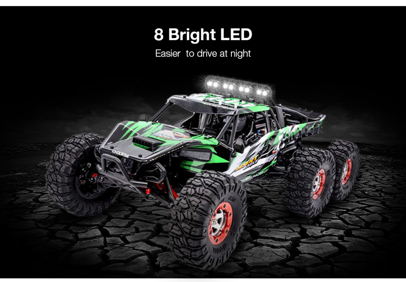 06-2 l FY06FY07 112 2.4GHz 6WD RC Off-road Desert Truck RTR 60km70km High Speed Metal Shock Absorber LED Lights boy best gift toy
