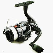 SAMS Fishing Spinning Reel Portable Feeder 3BB with 70M Line Small Line Rock Plastic Black