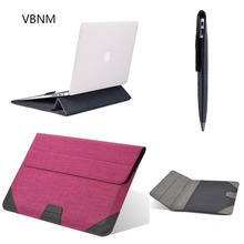 VBNM 11 12 13 15 Inch Ultra thin Waterproof Flip Stand Bag Case Cover For Macbook Notebook Laptop Sleeve for Macbook Retina Case