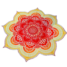 Home Decor Chiffon Lotus Floral Beach Bath Towel Mat Tapestries Blanket Swimwear Cover Up Sleep Pad(China)