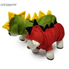 New Small Dog Clothes Winter Warm Pet Dinosaur Costume for Dogs Cats Green Red Chihuahua Coat Hoodie Sweater Cheap Pet Supplies(China)