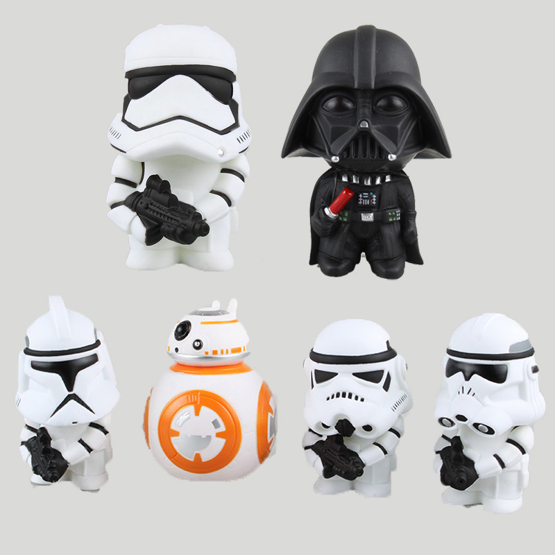 6pcs/Lot Star 7 Toys Darth Vader+Stormtrooper+BB-8 Aciton Figures Anime PVC Dolls Kids Toys Boys NewYear Gift Desktop Decor<br>