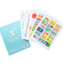 6 Pcs / Pack Melody Cartoon Transparent Sticker Korean Cute Sticker Diy Helloday Stiker Diary Posted Memo Pad(China)