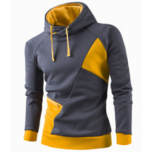 2017 Hoodies Men Sudaderas Hombre Hip Hop Mens Brand Patchwork Zipper Hoodie Sweatshirt Tracksuit Slim Fit Men Hoody