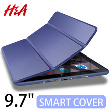 H&A 360 Full Leather Smart Case For Apple New iPad 9.7 inch 2017 2018 Cover for iPad 9.7 A1822 A1823 A1893 A1954 Protective Case(China)