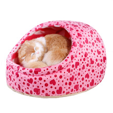 Cute Small Dogs House Princess Dog Bed Dog Nest Washable Warm Pet Kennel Cat Nest(China)