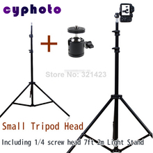 Free Tax To Russia photographic equipment Pro Photo Studio 6.6ft 2m Light Stand including Mini tripod head for Softbox