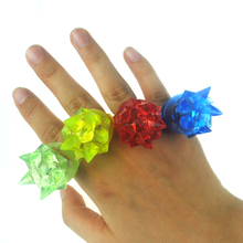 Light-Up Toys 3*3*4cm Soft finger ring special fashion silicone led light up toy glowing finger party favors 10pcs/lot(China)