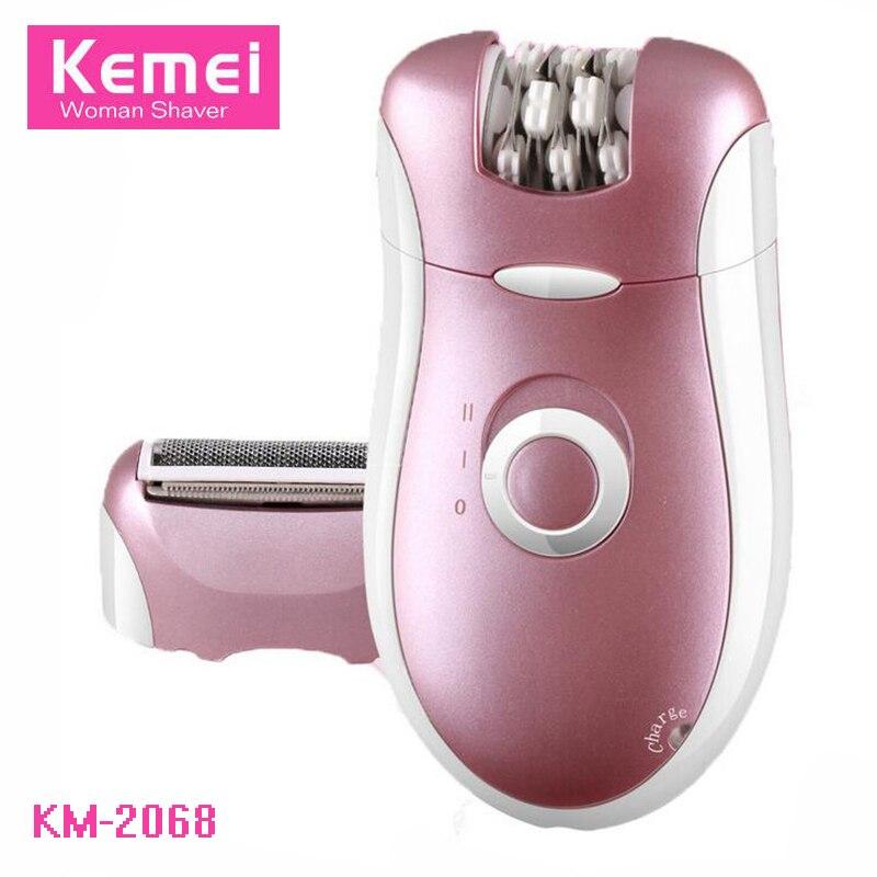 Kemei 2 In 1 Mini Women Electric Shaver Razor Bikini Armpit Body Hair Removal Lady Epilator Shaving Trimmer Machine Female Shave<br>