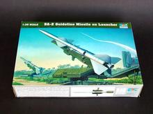 Trumpeter plastic scale model 1/35 00206 SA-2 Guideline Missile w/Launcher assembly model kits modle building scale tank kit
