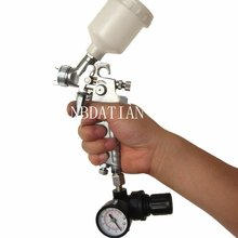 H-2000 air spray gun professional car spray gun with pressure gauge Regulator pressure regulator spray gun regulator