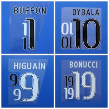 2016 2017 juve BUFFON CHIELLINI KHEDIRA MARCHISIO HIGUAIN DYBALA BONUCCI custom football number font print ,Soccer patch badge