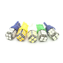 4x  T10 LED White/Blue/Yellow(amber)/Green/Ice Blue 12V 20SMD 2835 W5W Car Side Marker lights Dome map License Plate lamp bulb