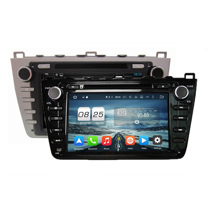ROM 32G Octa Core Android 6.0 Fit MAZDA 6 ,Mazda6 Ruiyi / Ultra 2008 2009 2010 2011 2012 Car DVD Player Navigation GPS Radio(China)