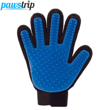 Soft Silicone Dog Grooming Glove Massage Bath Cleaning Dog Hair Brush 23*17cm(China)
