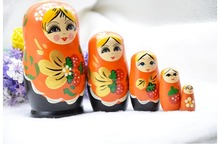 Russian Nesting Decoration  Doll Creative Matrioshka Handmade Features 5 Layer Home Ornament Christmas Gift