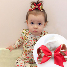 Lovely 3.7'' Big Bow Hair Clips Whole Wrapped Safety Girls' Hair Grips Accessories