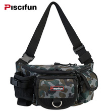 Piscifun Multifunctional Waterproof 3 Layers Fishing Bag Lure Waist Pack Messenger Bag Pole Package Fishing Tackle Bag(China)