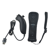For Wii 2 in 1 Wireless Controle Built In Motion Plus Remote Nunchuck Controller For Nintend Wii Bluetooth Remote Gamepad