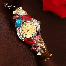 Buy Lvpai Brand Watches Women Classic Alloy Bracelet Flower Wristwatch Women Dress Watches Fashion Casual Gift Quartz Watch for $2.79 in AliExpress store