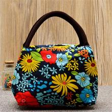 School/Office 5 Pattrens Flower Print Oxford Lunch bag Brand New and High Quality