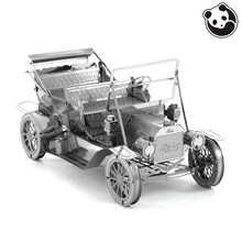 Panda model@VEHICLES 3D Metal Model Puzzles 1908 FORD MODEL T Chinese jigsaw Stainless Steel Creative Gifts