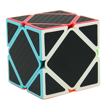 Cube Style Skewb Stickerless with Black Carbon Fibre Stickers Speed Magic Cube Fidget Cube Mirror Blocks Toys for Children(China)