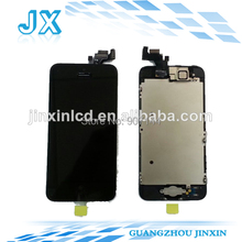 10pcs/lot wholesale For iphone 5 LCD with camera + home button full set with small parts by dhl ups free shipping(China)