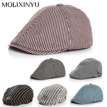 Cute !! Baby Stripe Design England Style Children Fashion Cap Summer Berets Baby Hat Boy Caps For Child Girl Berets Kids Hats