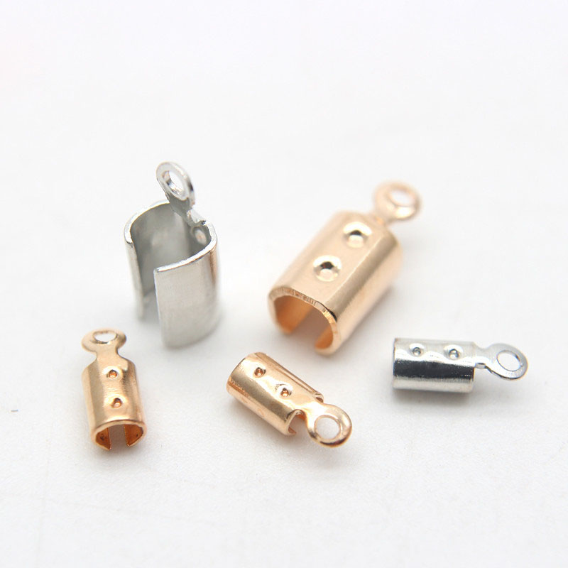 12x6.5mm ARRICRAFT 20pcs Unclosed Open Crimp Ends Cord End Tips Jewelry Makig Fasteners for Leather Cord
