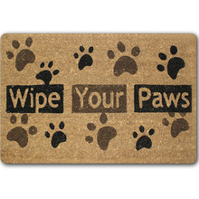Dog Paw Funny Words Go Away Rubber Indoor Outdoor Welcome Anti Slip Kitchen Mat Rugs Doormat For Entrance Door Pad Tapetes Mats(China)