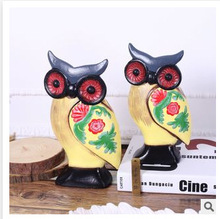 Retro model study Home Furnishing owl wooden bookcase decor decoration C23-CAT114
